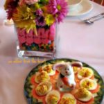 "Just a ""Peep's Eye View"" of our Easter dinner table this year…."