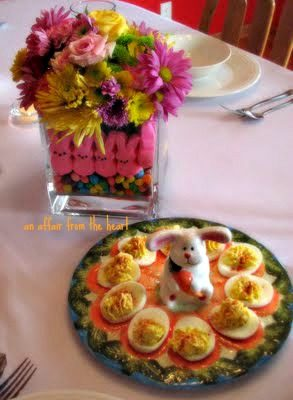 """Just a """"Peep's Eye View"""" of our Easter dinner table this year…."""