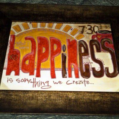 Happiness = Something We Create