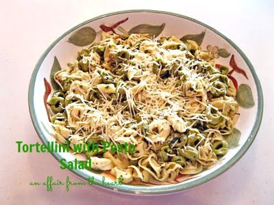 Tortellini with Pesto Salad….Looks Fancy…. but Shhhhh! Only 3 Ingredients!! ;)