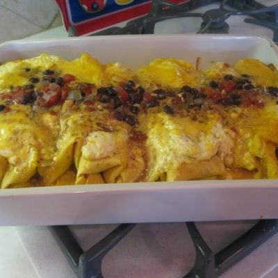 "That ""mystery dish"" we named Chicken Fajita Bake"