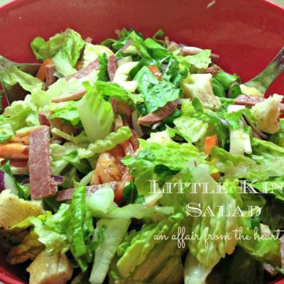 Little King Salad – It's like a Hoagie in a Bowl!