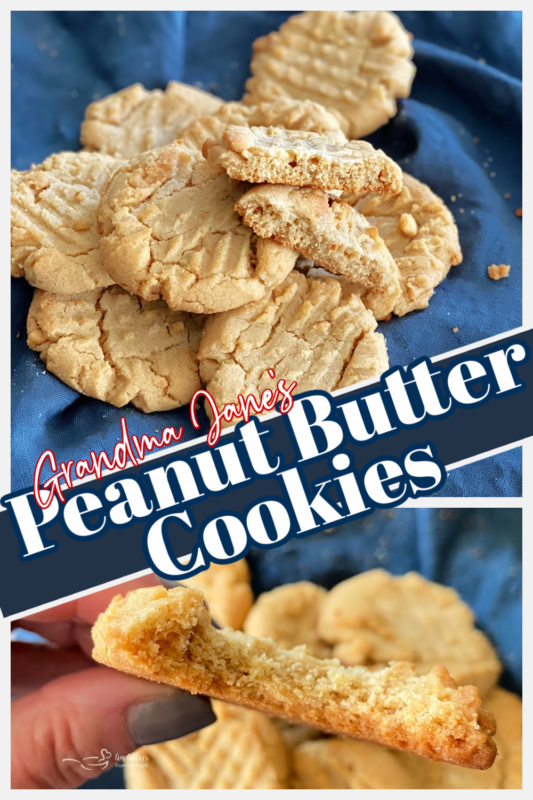 graphic for mom's peanut butter cookies