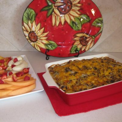 "Sourdough and Sausage Breakfast Casserole and a gift ""from the heart"""