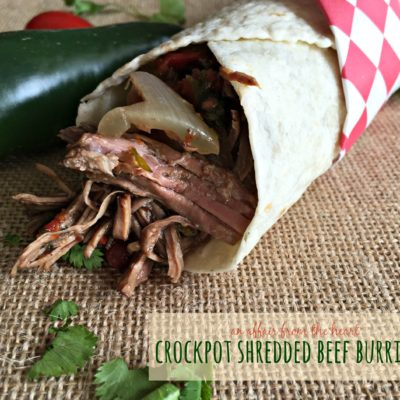 Crock Pot Shredded Beef Burritos