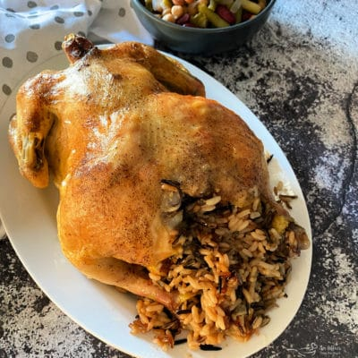 Easy Baked Chicken with Wild Rice Stuffing