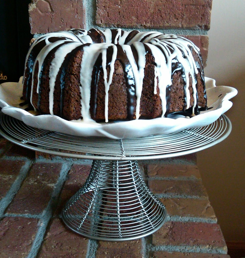 Chocolate Macaroon Tunnel Bundt Cake