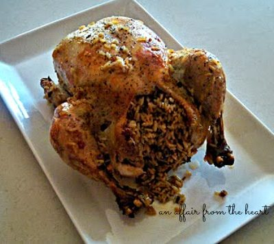 Easy Baked Chicken Stuffed with Long Grain and Wild Rice