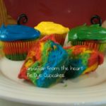 Happy 9th Birthday to Our Twins… Tie Dye Cupcakes and Ice Cream Sandwich Cake