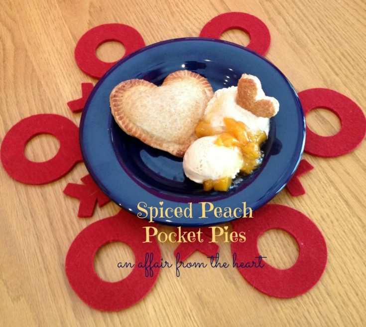 Heart Shaped Spiced Peach Pocket Pies