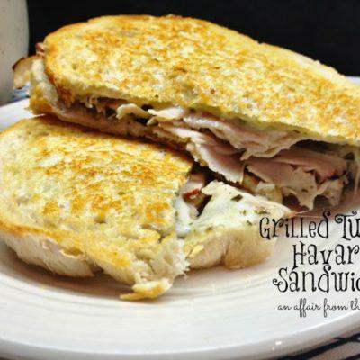 Grilled Turkey and Havarti Sandwiches
