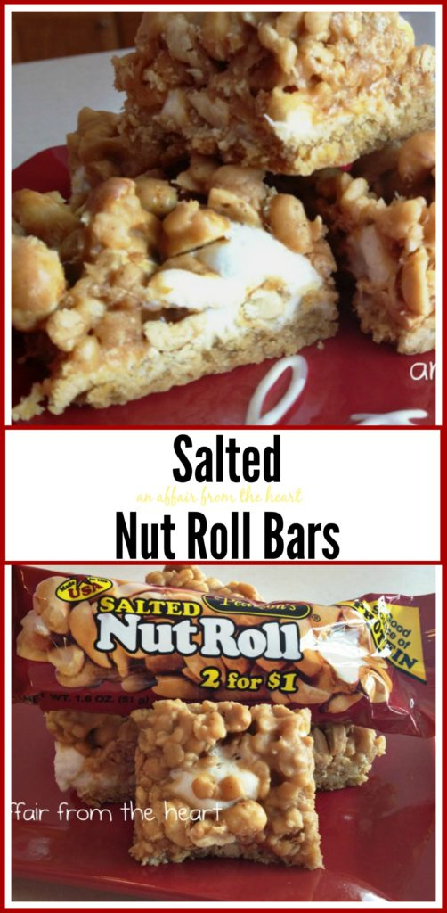 Salted Nut Roll Bars - An Affair from the Heart