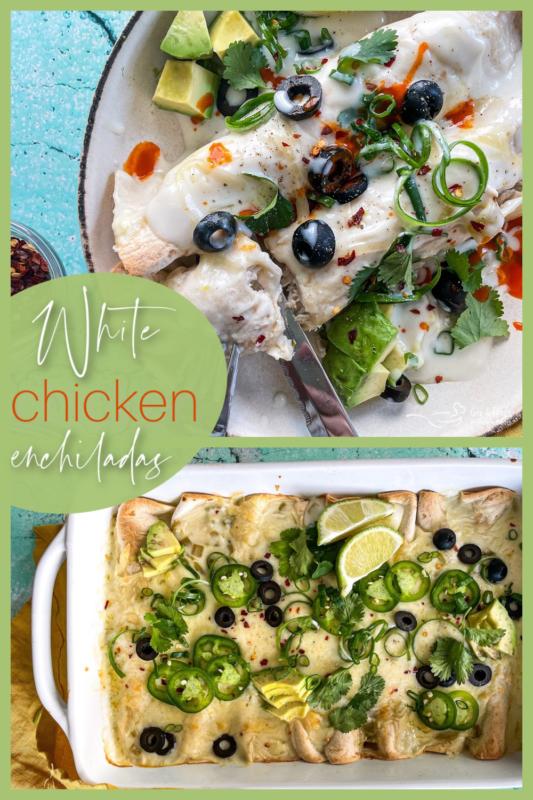 Graphic for white chicken enchiladas