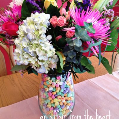 How To: Make a Conversation Heart Centerpiece