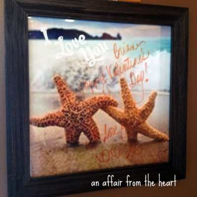 Dry Erase Board made from a Photo and Frame