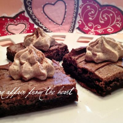 Mexican Chocolate Frosted Brownies