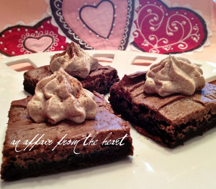 Close up of Mexican chocolate brownies