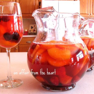 White Rose infused Sangria