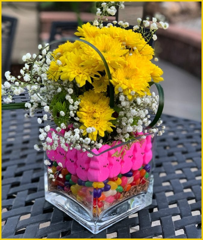 How To Make A Peep Centerpiece For Your Easter Table