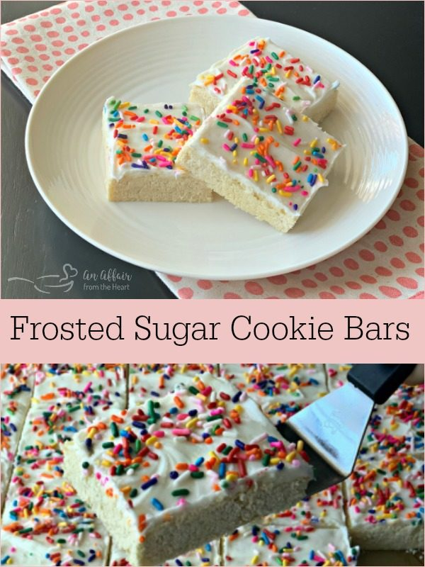Frosted Sugar Cookie Bars - An Affair from the Heart