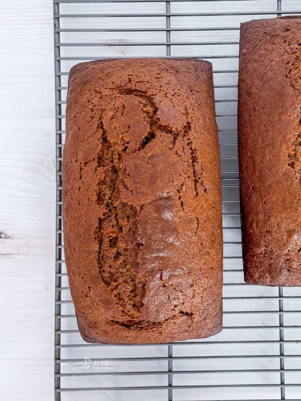 cooked pumpkin loaf unfrosted