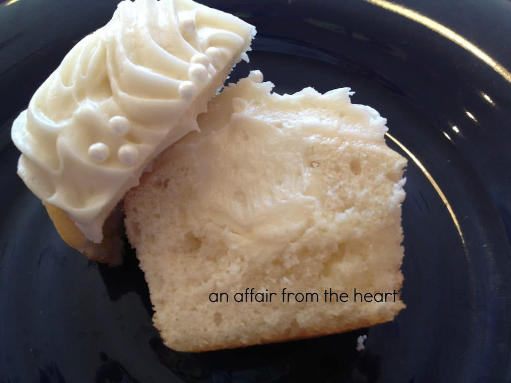 White Chocolate Truffle Center Cupcakes with White Chocolate Cream ...