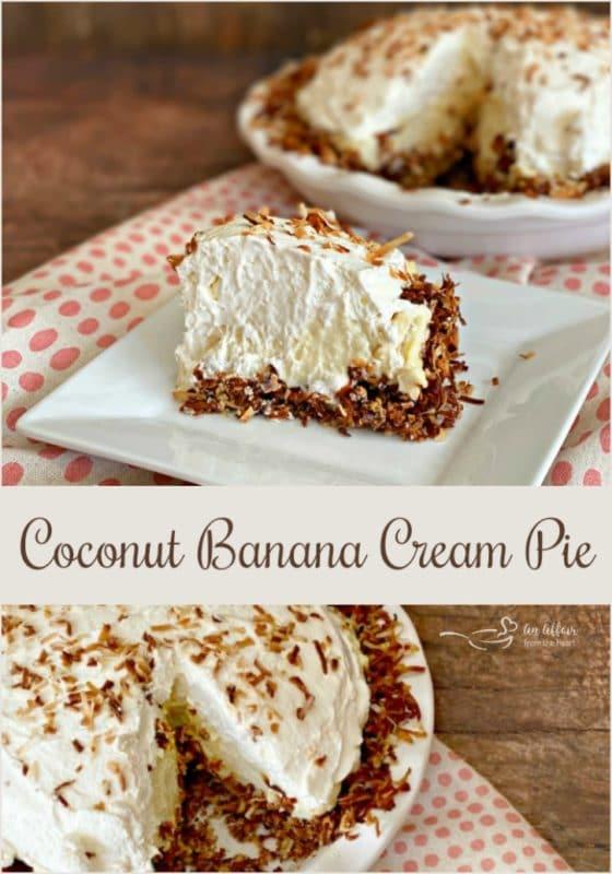 Coconut Banana Pie - An Affair from the Heart