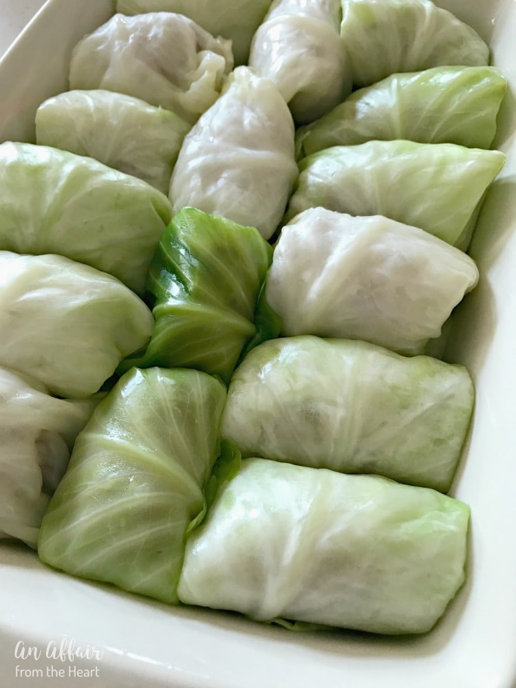 Stuffed Cabbage Rolls - An Affair from the Heart
