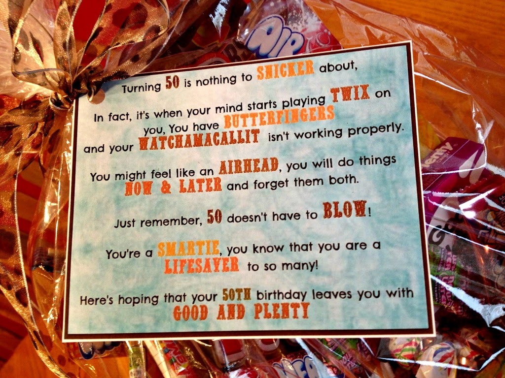 50th Birthday Candy Basket And Poem An Affair From The Heart