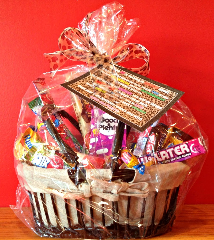50th Birthday Candy Basket And Poem