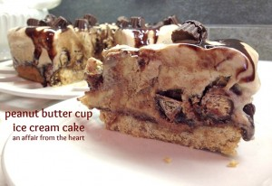 Reeses Peanut Butter Cup Ice Cream Cake  An Affair from the Heart