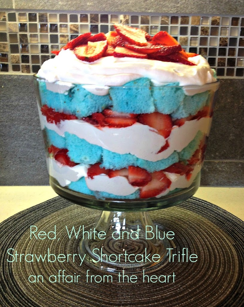 Red, White and Blue Strawberry Shortcake Trifle | An Affair from the ...