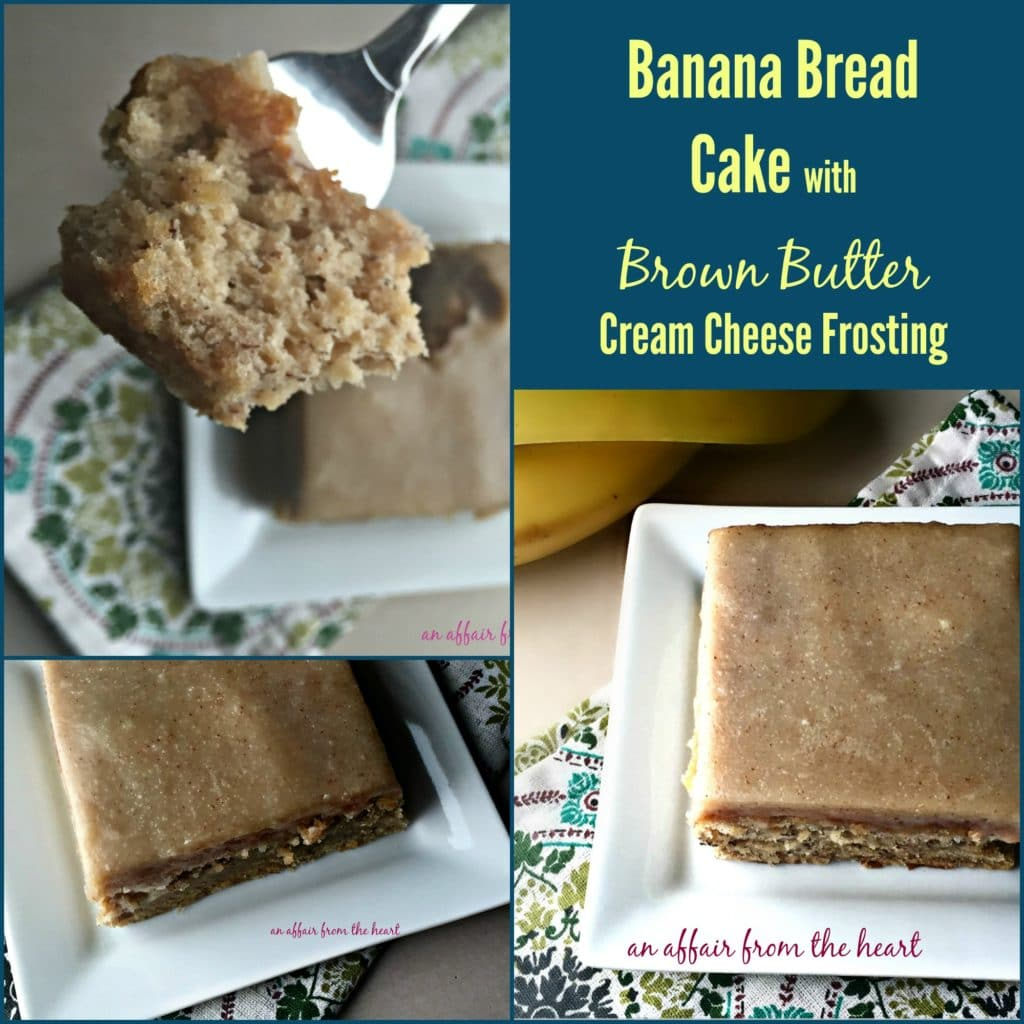 Banana Bread Cake with Brown Butter Cream Cheese Frosting | An Affair ...