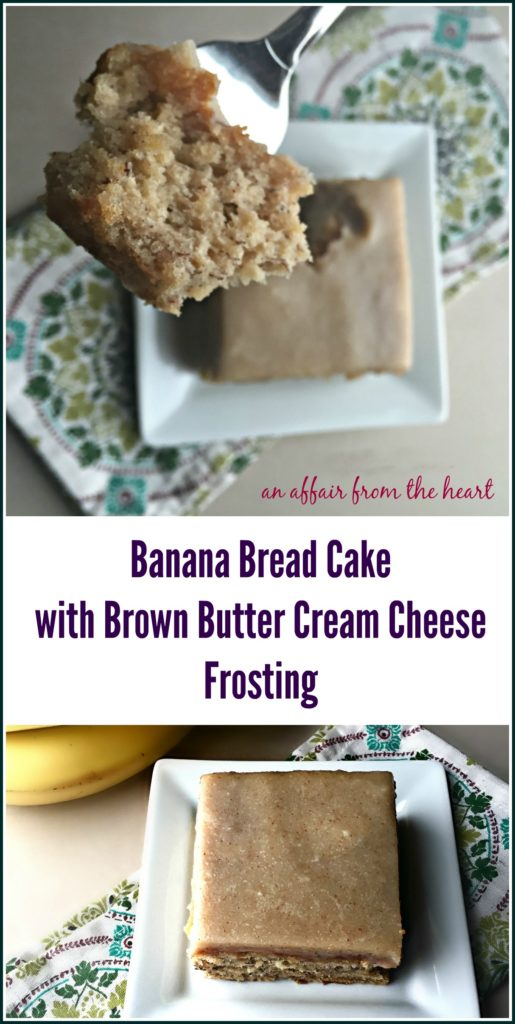 Banana Bread Cake with Brown Butter Cream Cheese Frosting - An Affair ...