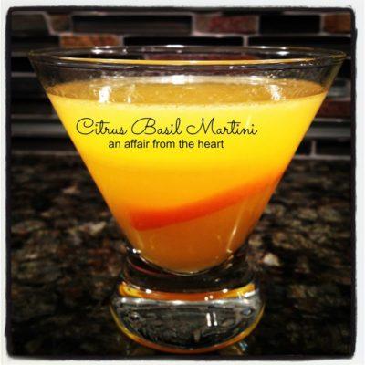 Citrus Basil Martini