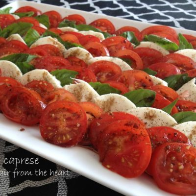 Caprese – Tomatoes with Mozzarella and Basil