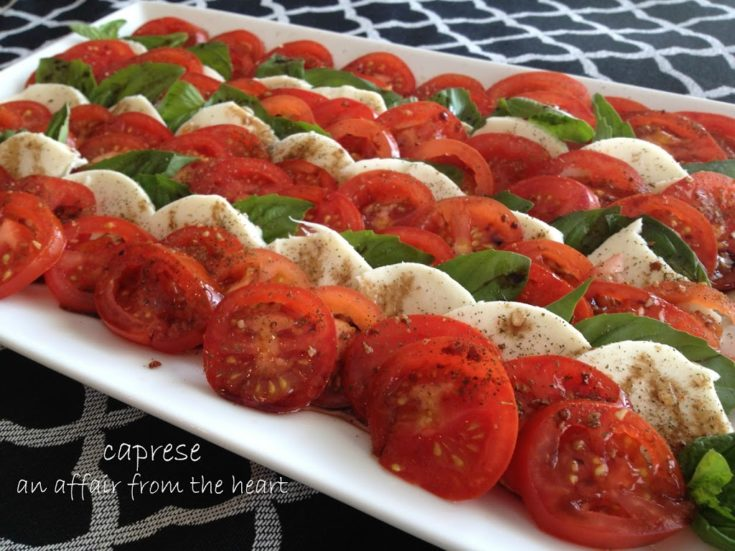 Caprese - Tomatoes with Mozzarella and Basil