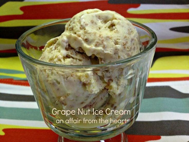 Grape Nut Ice Cream