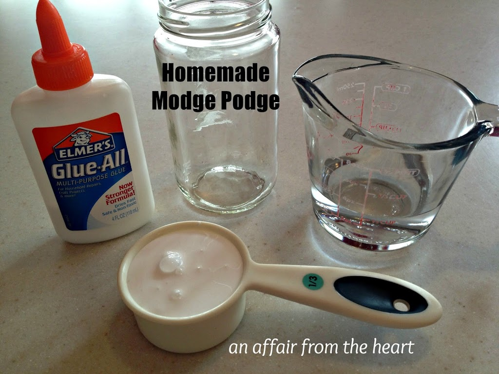 how to make homemade modge podge an affair from the heart