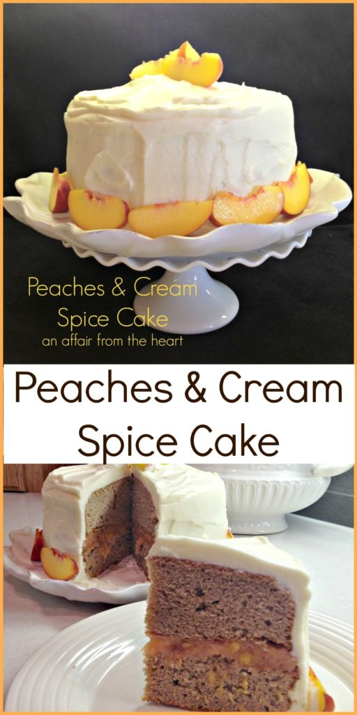 Peaches & Cream Spice Cake