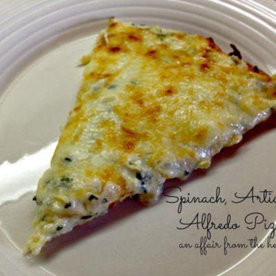 Spinach & Artichoke Alfredo Pizza