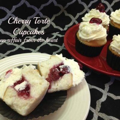 Cherry Torte Cupcakes
