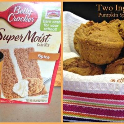 Two Ingredient Pumpkin Spice Muffins
