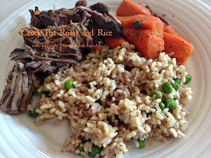 Crock Pot Roast and Rice