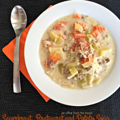 Sauerkraut, Bratwurst and Potato Soup