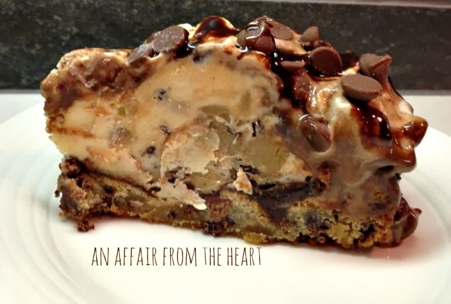 Chocolate Chip Cookie Dough Ice Cream Cake | An Affair from the Heart