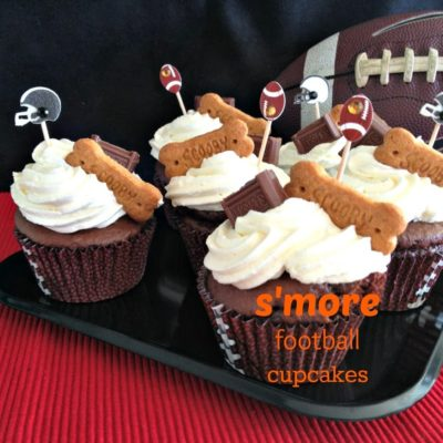 S'more Football (THROW the BONES) Cupcakes