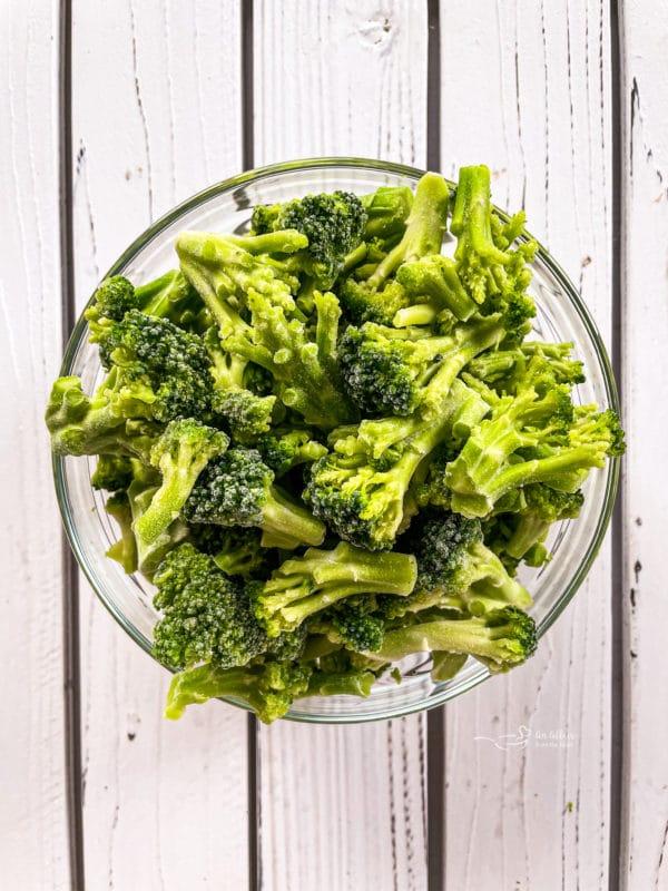 A bowl of broccoli