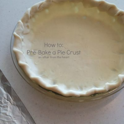 How to: Pre-bake a Pie Crust
