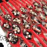 chocolate peppermint dipping spoons